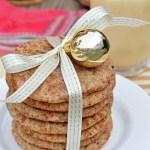 Cinnamon and Nutmeg Eggnog Snickerdoodles