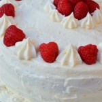 Gluten Free Vanilla Cake with Raspberry Filling and Meyer Lemon Buttercream