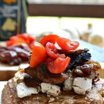 Gluten Free Pork Chops with Goat Cheese and Caramelized Onion and Date Compote