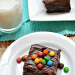 Gluten Free Triple Chocolate M&M Brownies