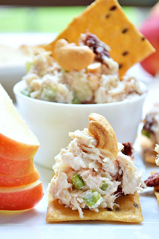 Try this flavorful Gluten Free Apple Cherry Chicken Salad for your an appetizer, light lunch, or quick meal. Apples, celery, and cashews give crunch and texture while dried cherries add a bit of tang.
