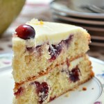 Gluten Free Cranberry Clementine Cake with White Chocolate Ganache