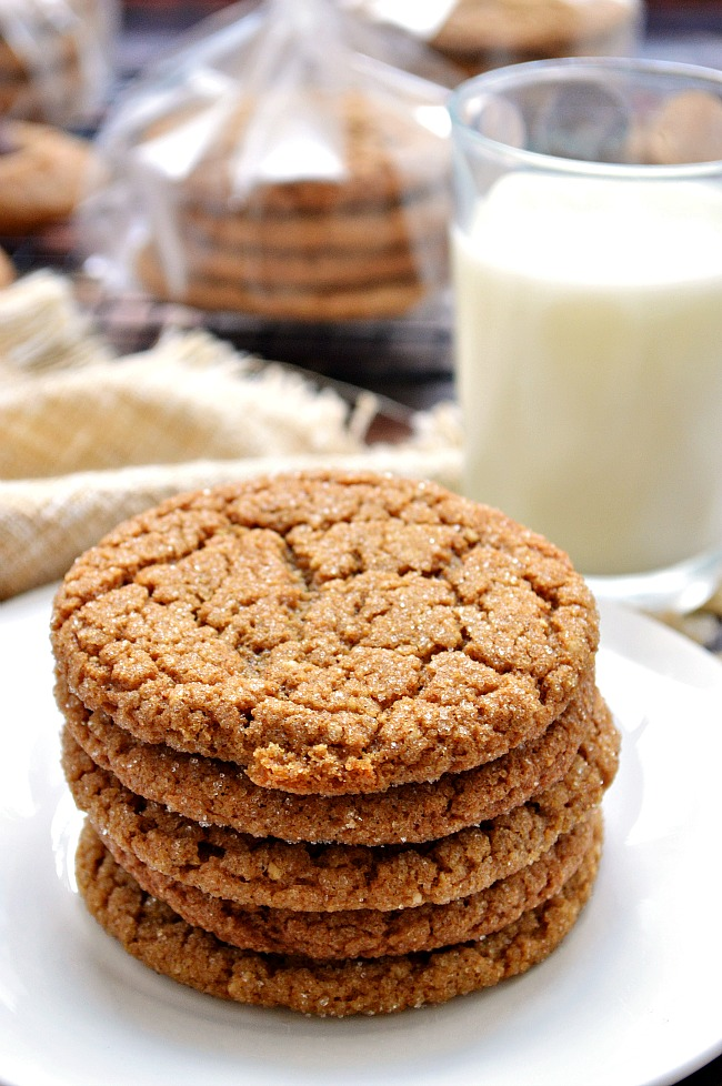 It doesn't have to be the holidays to enjoy these Gluten Free Chewy Ginger Molasses Cookies. They're a family favorite around here!