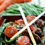 Gluten Free Green Bean and Carrot Beef Stir Fry