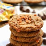 For a rich and flavorful cookie that satisfies both adults' and kiddos' taste buds, try these Gluten Free Almond Butter Butterfinger Cookies. You can even alter the mix-ins for a completely dairy free and egg free cookie!