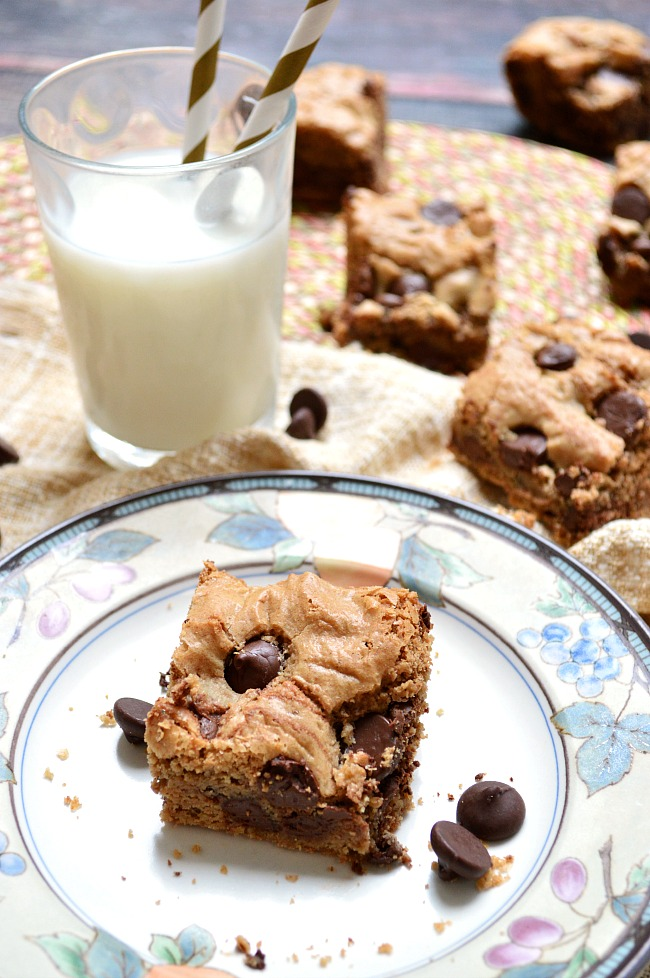 You'll never have to miss out again on traditional gluten filled blonde brownies with these Gluten Free Chocolate Chip Blondies! Make them with your favorite mix-ins or stick to traditional chocolate chips.