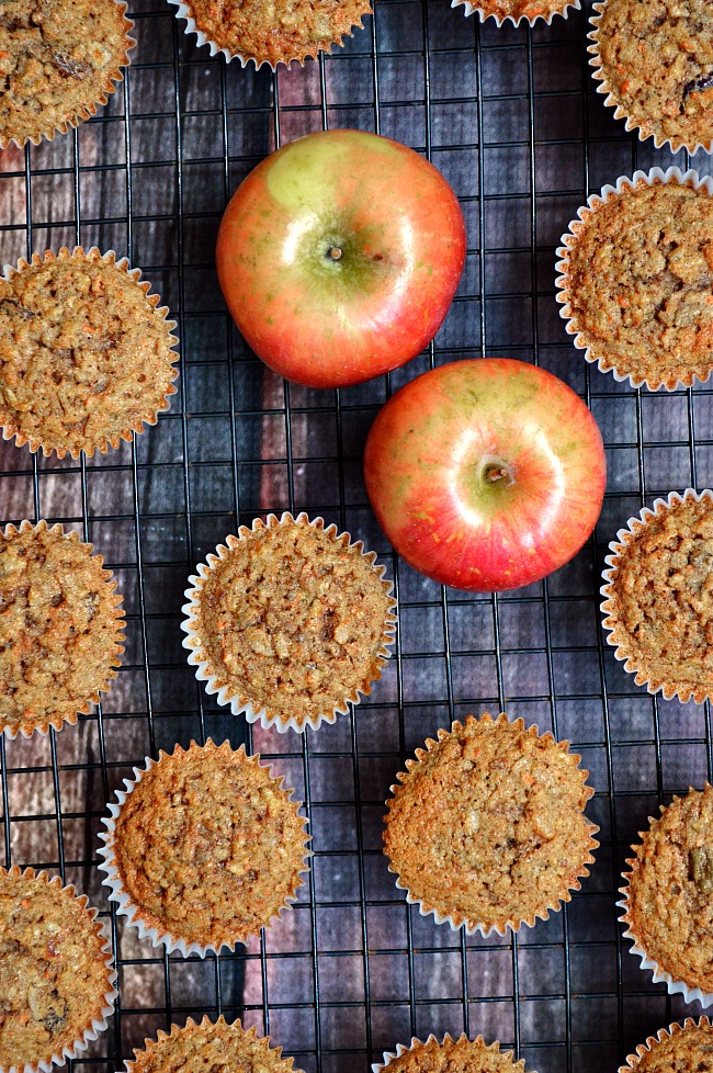 These Gluten Free Everything Muffins are loaded with healthy ingredients like nuts, coconut, raisins, apples, and carrots. They really are everything and more!