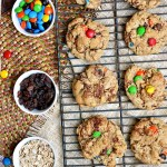 Gluten Free M&M Monster Cookies