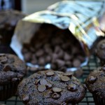 These Gluten Free Double Chocolate Banana Muffins are great for kids. They serve two purposes: keeps them quiet for two minutes while eating, and gives them a healthy dose of whole grains with no refined sugars...besides a little semi-sweet chocolate!