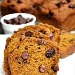 Gluten Free Healthy Chocolate Chip Pumpkin Bread