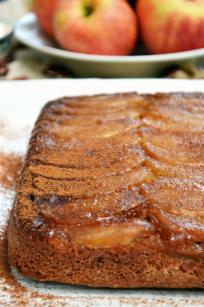 Upside Down Apple Spice Cake