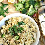 Gluten Free Creamy Lemon Garlic Chicken and Broccoli Pasta