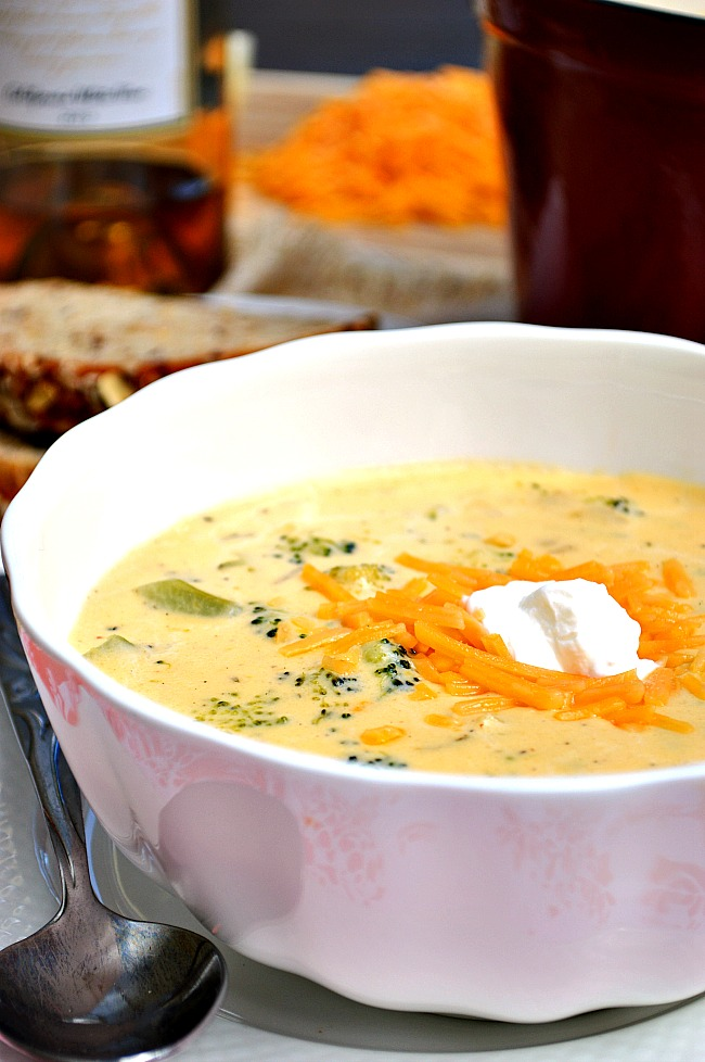 """This Gluten Free Broccoli Cheddar Soup surpasses the description of """"amazing"""" and falls right into the category of """"phenomenal""""! With a mixture of sharp cheddar and Havarti cheeses, this soup is winning in the creamy department."""
