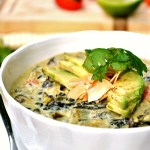 Make this dinner especially easy by throwing uncooked rice right into your soup. This Gluten Free Coconut Curry Kale Soup only takes one pot and is a winner dinner for those vegetarian nights.
