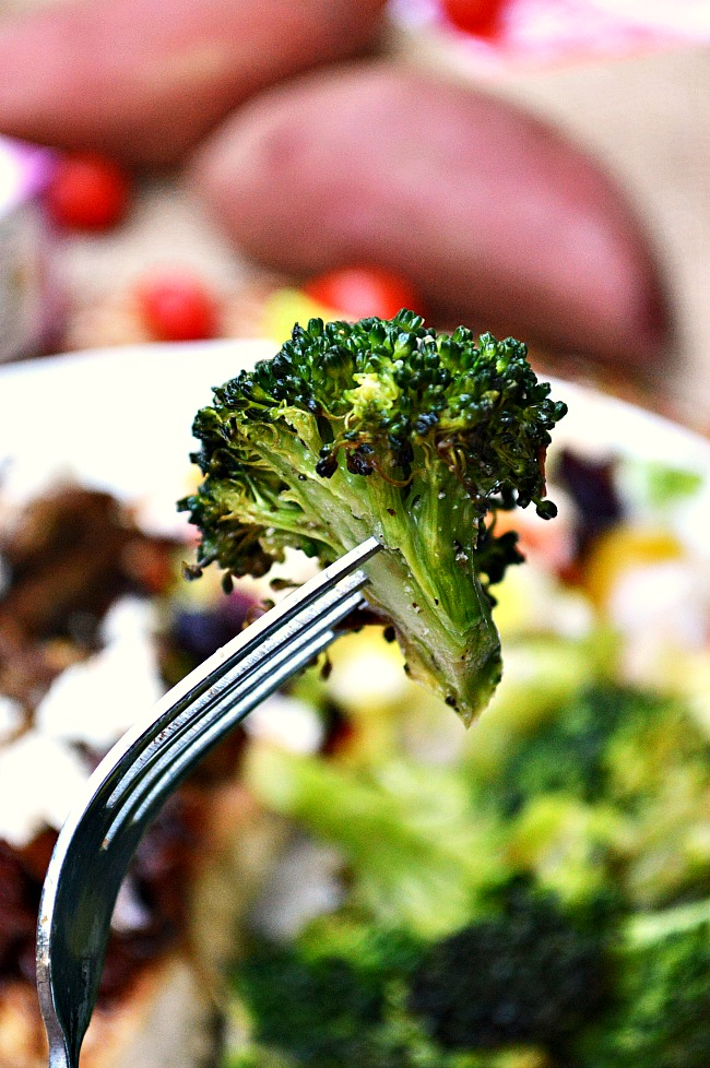 Compliment any meal with this quick and simple side dish of Italian and Garlic Seasoned Oven Roasted Broccoli. My kiddos eat them by the bunches!
