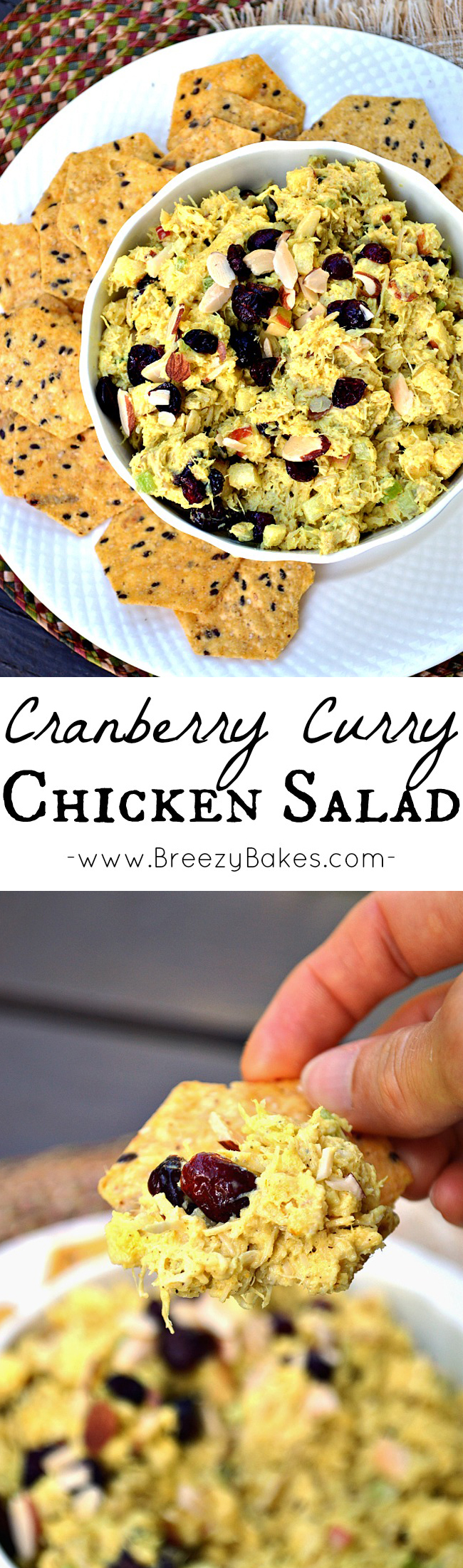 Use up some of your food storage and spices with this flavorful and aromatic Cranberry Curry Chicken Salad. It's perfect for dipping crackers, topping a salad, or filling a sandwich.