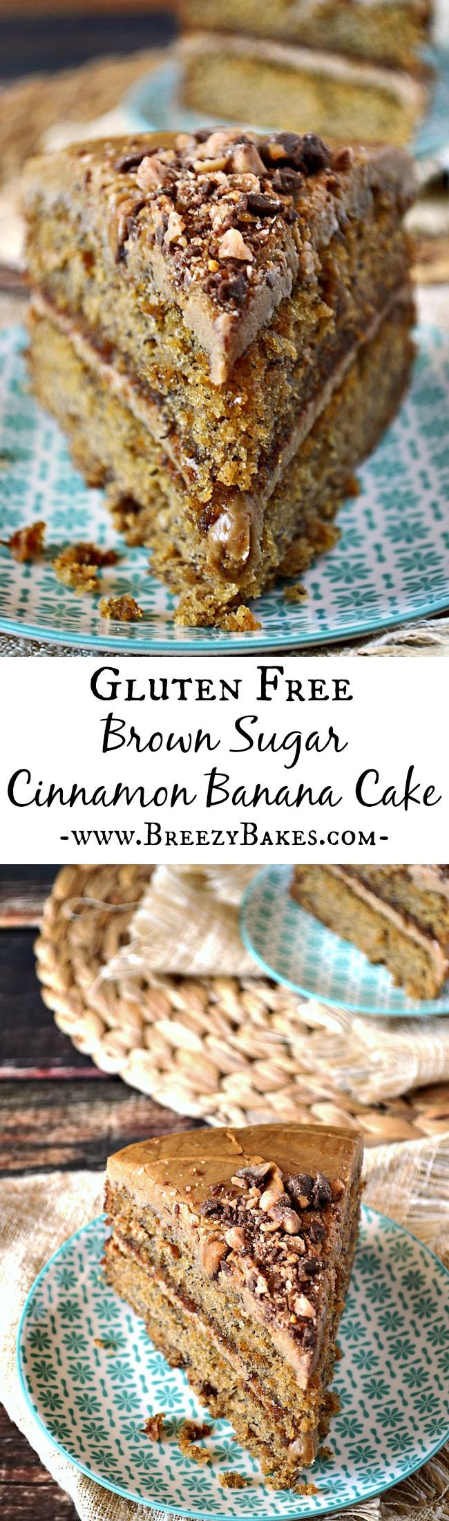 gluten free cinnamon banana cake