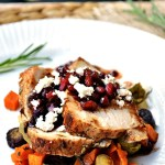 Rosemary Pork Tenderloin with Pomegranate Sauce