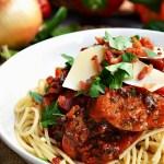 Gluten Free Chicken Sausage Bell Pepper Pasta