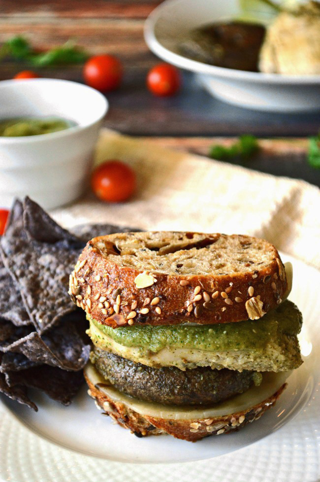 I dare you to get your mouth around these Gluten Free Salsa Verde Grilled Chicken Sandwiches. Whether you can keep the burger in the bun, or you eat the fixings straight off the plate, your taste buds will be very, very happy.