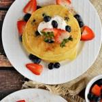 Gluten Free Blueberry Buttermilk Cornmeal Pancakes