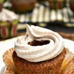 Enjoy all the sweet breakfast goodness in these ultra cinnamony Gluten Free Cinnamon Roll Cupcakes. Tender cinnamon cakes filled with a buttery brown sugar filling and topped with a smooth cinnamon vanilla buttercream. Good morning!