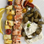 Enjoy grilling with this tasty Grilled Shrimp and Salmon Kabobs with Gluten Free Gnocchi recipe. It's a fresh, flavorful, and fast dinner for those busy midweek days.