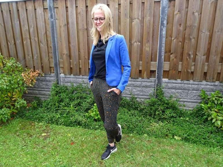 bregblogt.nl outfit foto blauw jasje casual chic kantoor