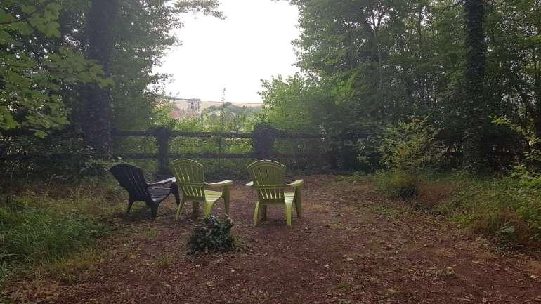 uitzicht Camping Au Bois Joli achterkant bregblogt.nl