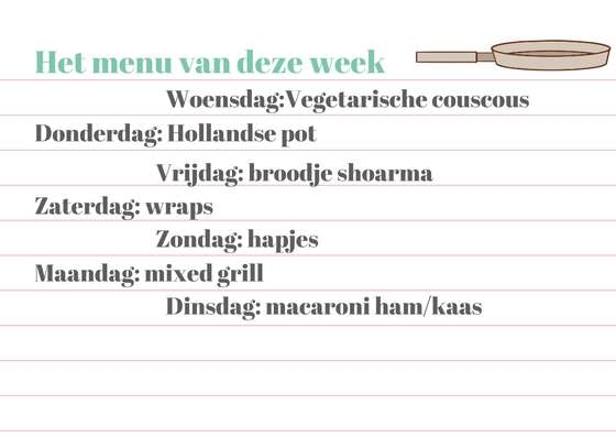 weekmenu week 14 bregblogt.nl