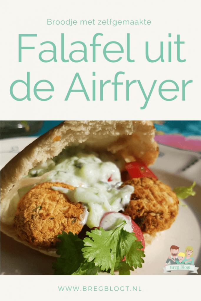 Broodje met zelfgemaakte falafel uit de Airfryer bregblogt.nl