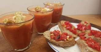 Gazpacho met bruschetta recept bregblogt.nl