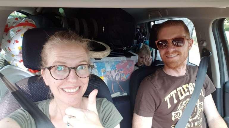 Vakantie Zeeland ingepakte auto bregblogt.nl