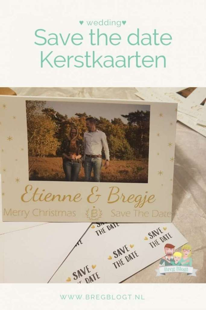 Save the date kerstkaarten wedding bruiloft bregblogt.nl