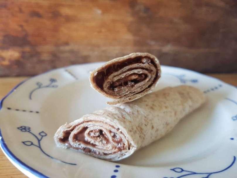 zoete wrap met chocoladepasta bregblogt.nl