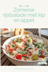 Zomerse rijstsalade met kip en appel bregblogt.nl