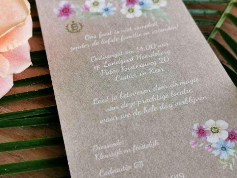 Trouwkaarten bregblogt.nl wedding invitation uitnodiging bruiloft inspiratie
