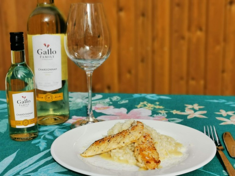 Chardonnay Gallo Family Vineyards met risotto bregblogt.nl