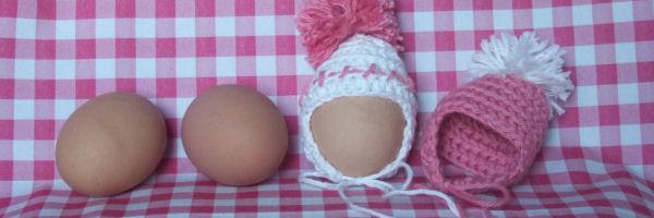 Patroon eiermutsje haken