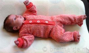 Baby jumpsuit breien gratis patroon