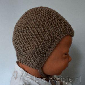 Babymutsje Lindbergh pasgeboren baby bruin