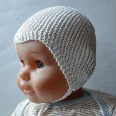 Babymutsje lindbergh medium wit