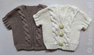 Breipatroon babyvestje gratis patroon