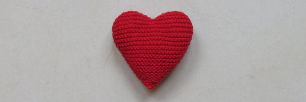 Hart breien patroon - breipatroon gebreid hart
