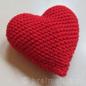 Hart breien patroon