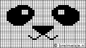 Panda breien telpatroon