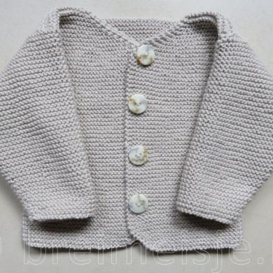 Patroon babyjasje breien maat 62-68