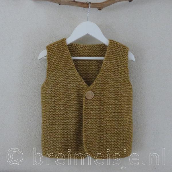 Patroon Gilet Vest Breien Voor Kind Maat 110 116 Breimeisjenl