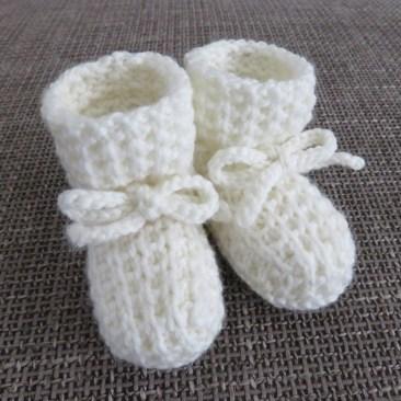 Babysokjes breien pasgeboren baby