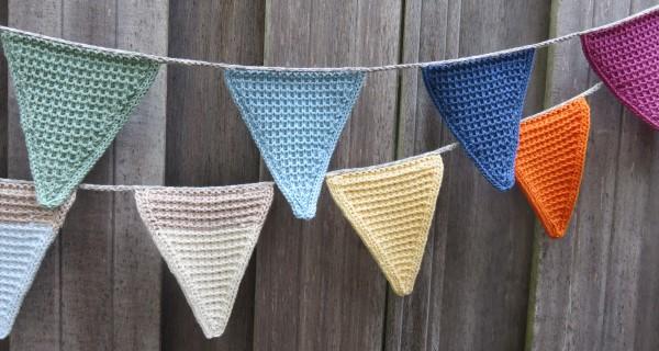 Vlaggetjes breien patroon